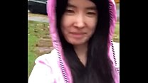 Asian Teen Publicly Reveals Herself In The Rain!