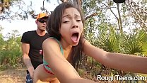 Little Boobs Adrian Maya Sucking Dick and Rammed Viciously