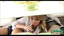 Sucking Daddy's Cock Under Table In Front Of Mom Cali Sparks POV pornhub video