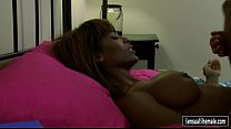Black tranny Natissa Dreams with big tits gets analyzed