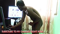 Young Boy Playing With His Big Cock While Watching Xvideos Site