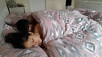 s. teen sister woken up m., kissed, fingered, licked, passionate sex POV In