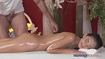 Massage Rooms Petite Ukrainian model has her tiny hole filled with cock صورة