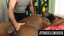 Fat Black Lady Heather Mason Enjoys a Hot Rubdown with Some Special Toys