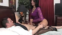 Horny Milf Jerks Off Her Driver
