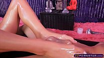 Oiled up special massage end in a nice quickie fuck image