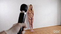 Submissive Busty Russian Babe instucted to Ass Fist herself. thumbnail