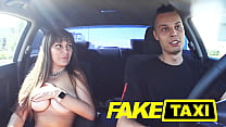 FAKE TAXI WITH A GIRL FROM EXCORT