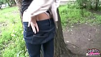 These tight blue jeans make me so horny for some reason video