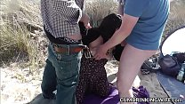 Beach gangbangs with naughty slutwife Marion preview image