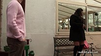 Huge boobed BBW fucked hard outdoor in french countryside thumbnail