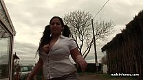 13529 Huge boobed BBW fucked hard outdoor in french countryside preview