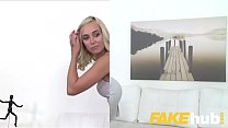 Fake Agent Cute blonde model loves being fucked doggystyle on casting couch preview image