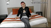 tiny 18 years old punk teen does first porn casting thumbnail