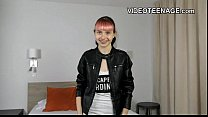 tiny 18 years old punk teen does first porn cas...