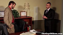 Gay officesex hunk assfucked by his boss