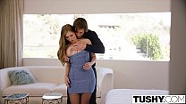 TUSHY Busty babe fucks her sisters ex boyfriend Preview