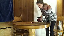 MILF gets a facial after DIY vid in the kitchen - Erin Electra