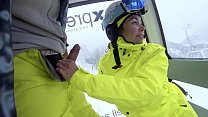 Free download video bokep 4K Public cumshot on mouth in ski lift Part 1, 2