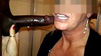 Deepthroat blowjob from expert mature cock hung...