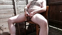 Trying To Have A Quiet Piss And Wank In My Yard