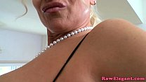 Bigtitted euro milf sucks BBC before anal