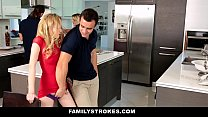FamilyStrokes - Step Sister Sucks And Fucks Brother During Thanksgiving Dinner - 9Club.Top