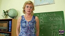 Milf teacher nasty fingering after having a class preview image