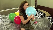 Blowing Balloons And Popping Them While Chewing