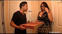 Busty Milf Jerking Off The Pizza Boy