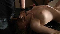 Two blondes restrained for double perversion thumbnail