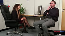 Bigtit british cfnm domme instructing guy in of...