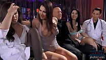 Doctor fucks two strippers in a stripclub and h...