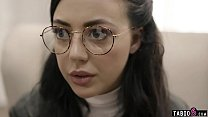 Nerdy teen with glasses gets exploited by socia...