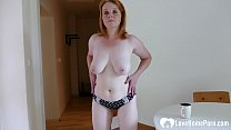 Older redhead chick is here to masturbate passionately