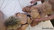 German Teen Fuck and Facial in Amateur Threesome image