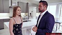 Skinny redhead slut saves daddys job with her asshole video