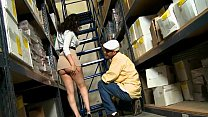 Eva Gomez takes on Ramon in the stockroom