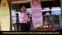 CARNE DEL MERCADO - Sexy Latina Mila Garcia tastes meaty dick and gets fucked
