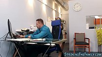 Teen stepdaughter office Image
