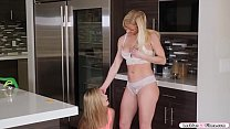 Young maid facesits her busty milf boss