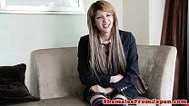 Tranny schoolgirl drilled in missionary pose thumbnail