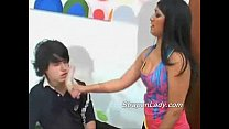 Gabrielle scres her boyfried with a strapon