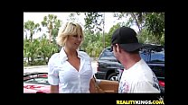 Brianna Beach takes quite the pussy treatment courtesy of the Milf Hunter pornhub video