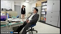 Japanese secretary has sex with horny office guy