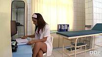 Extremely hot nurse Alexis Brill takes patient'...