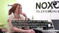 Redhead slut offers anal twice to keep her job preview image