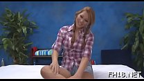 Sexy and sexy eighteen year old gets fucked from behind by her massage therapist