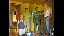 Group sex with mature cleaning lady Birgitta
