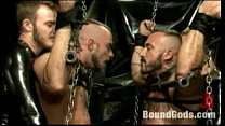 Single-tail and candle wax torment live, at the mercy of kinky gay dom Onyx